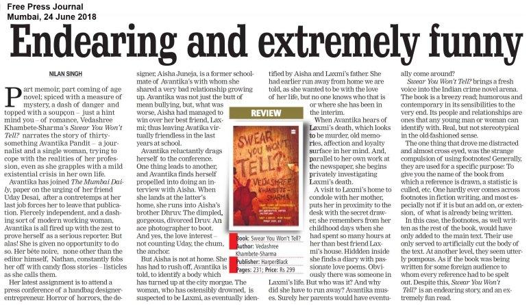 Swear You Won_t Tell, Free Press Journal, Mumbai, Jun2418